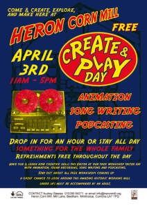 Create & Play Day @ Heron Corn Mill Flyer